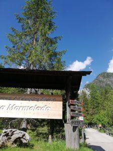 escusione Falier - partenza camping La Marmolada